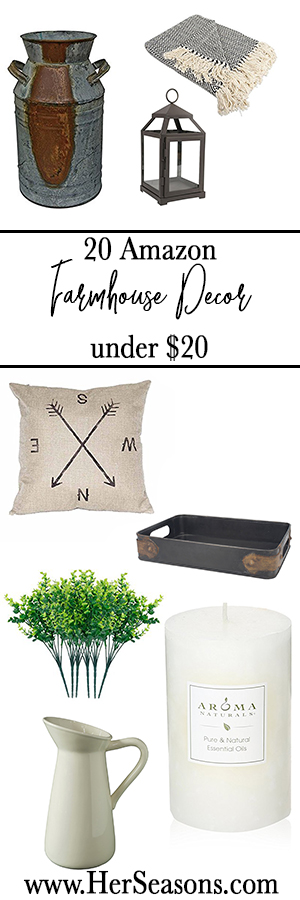 20 farmhouse decor items under $20 | Her Seasons Blog